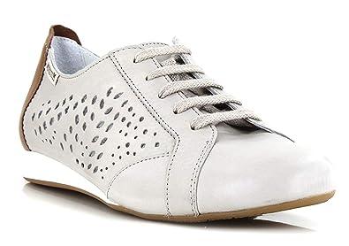 46667b53d3b3f8 Mephisto Belisa Perf Sneakers Femme avec Semelle extractible 7905-7942  Light Grey Size: EU