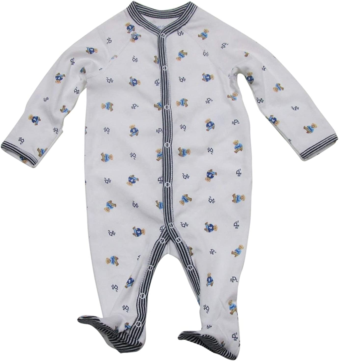 Polo Ralph Lauren Kids Baby Boy's Printed Interlock Bear Coveralls (Infant)