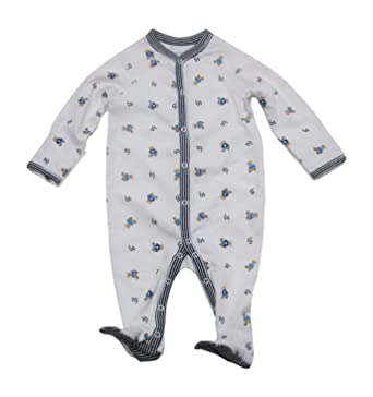 6828ac322 Ralph Lauren Baby Printed Interlock Bear Coveralls Infant White  Multi/French Navy Boy's Overalls One