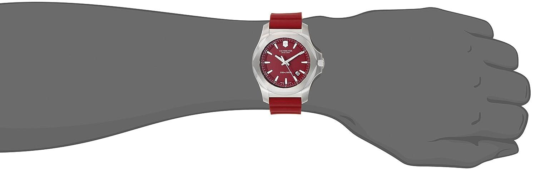 Victorinox I.N.O.X. Cuarzo - Reloj (Reloj de Pulsera, Masculino, Acero Inoxidable, Acero Inoxidable, Caucho, Rojo): Victorinox Swiss Army: Amazon.es: ...
