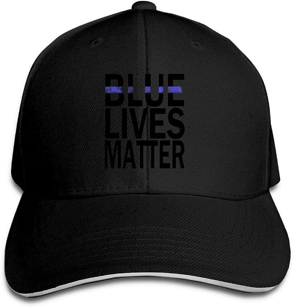 JustQbob1 Blue Live Matter Outdoor Snapback Sandwich Cap Adjustable Baseball Hat Dad Hat