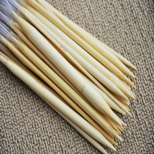 (Zehui 18 Pair 16''(40cm) Circular Bamboo Knitting Needles Set Kit with Plastic Tube)