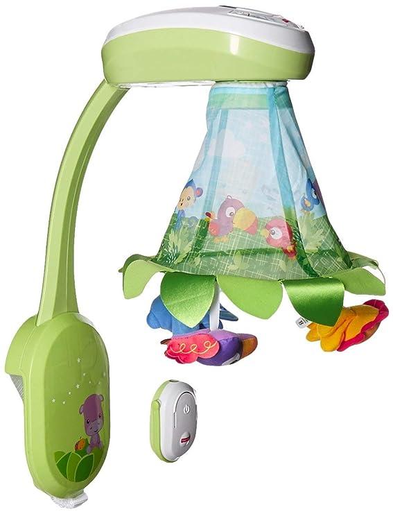 Fisher-Price-DFP09 Móvil proyector Deluxe, Multicolor (Mattel DFP09)