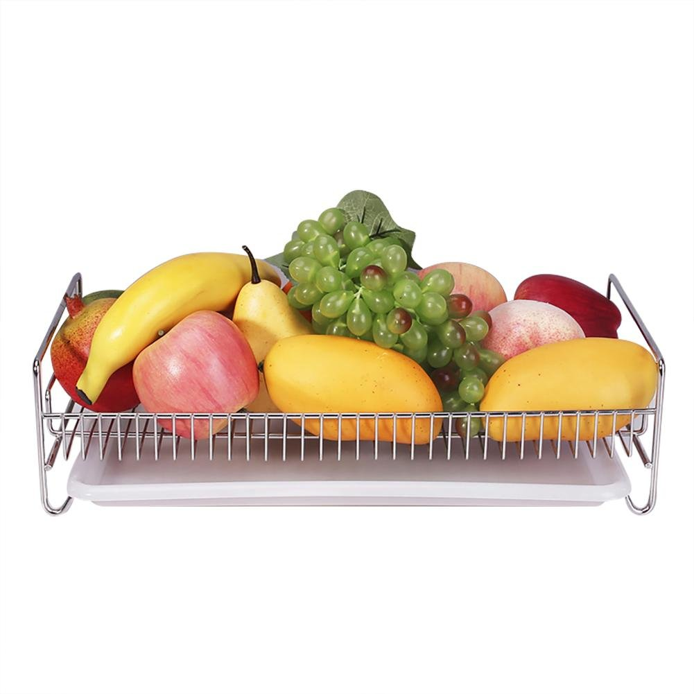 Yunt Dish Rack Over The Sink Dish Drying Rack, Stainless Steel Dish Drainer Kitchen Strainer for Vegetable and Fruit