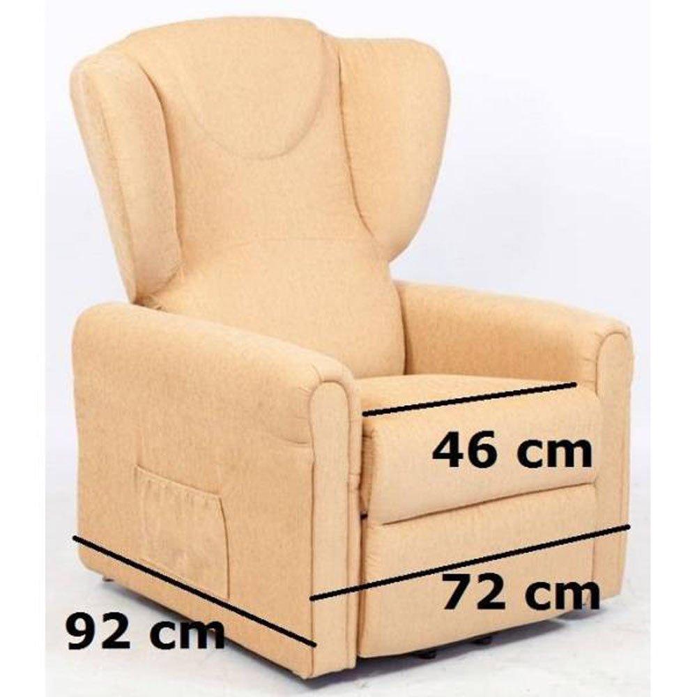 Sessel mit Aufstehhilfe MAGIC, 2 Motoren. Small. Ockergelber Stoffbezug