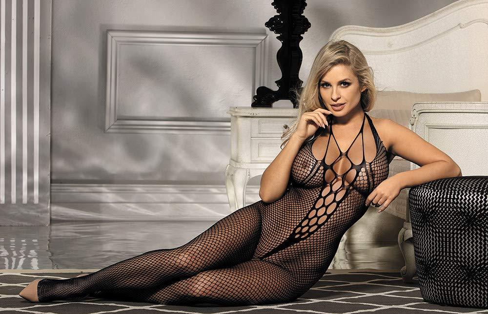 Ropa erótica Medias siamesas Sexy seductoras Lencería Sexy siamesas Mujeres Tentación Malla Abierta Entrepierna Calcetines Siameses - Opciones de Talla múltiple (Tamaño : XL) f0a058