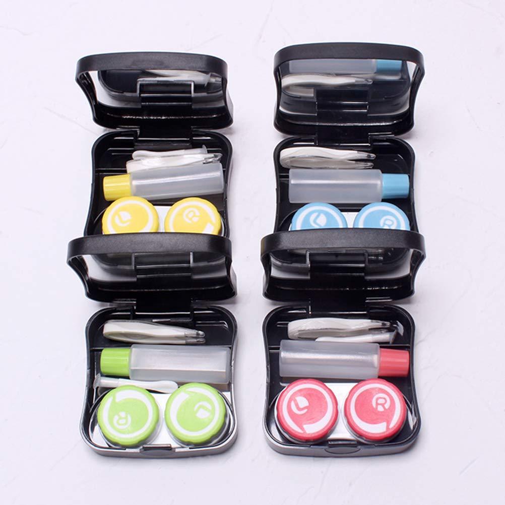 Amazon.com: Healifty Mini Contact Lenses Case Square Contact ...