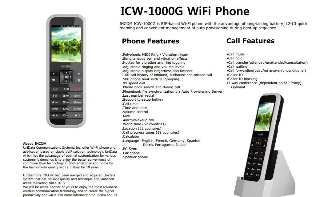 Amazon com : UniData WPU-7800 is SIP-based Wi-Fi Voip phone