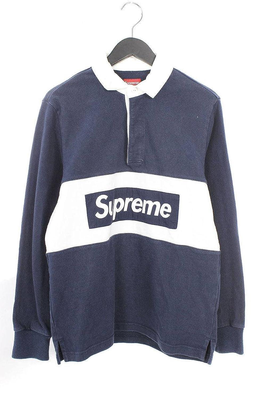 (シュプリーム) SUPREME 【15AW】【TEAM RUGBY】ボックスロゴラガーシャツ(S/ネイビー×ホワイト) 中古 B07FVJM2J2  -