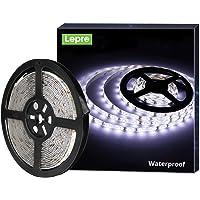 LE Tira LED, Cadena de Luces, 5m 300 LED SMD 2835, Blanco Frío, Resistente al Agua IP65,…