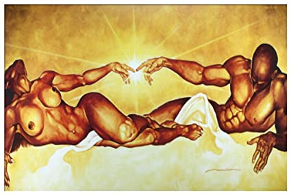 Amazon.com: Connection By WAK Kevin A. Williams 18x36 Black Art ...