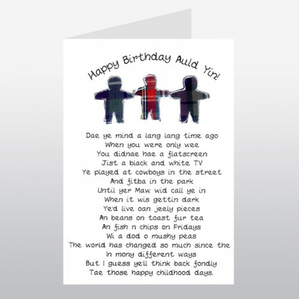 Embroidered originals wee wishes happy birthday auld yin card embroidered originals wee wishes happy birthday auld yin card made in scotland amazon office products kristyandbryce Images