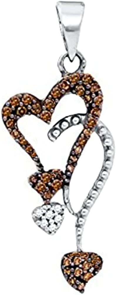 Infinity Brandy Diamonds® Chocolate Brown 10K  White Gold Love Necklace Pendant
