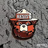 Enamel Lapel Pin - Bear RESIST Alt US Pin