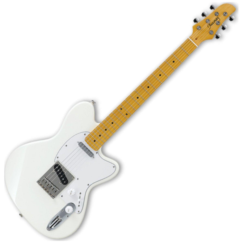 ibanez talman tm302m electric guitar ivory musical