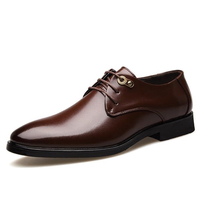 832752ddc3d0a GTYMFH Zapatos De Vestir Para Hombre Zapatos De Derby Zapatos De Tacón De  Bloqueo De Negocios Formal Zapatos Casual Oxford Encaje  Amazon.es  Ropa y  ...