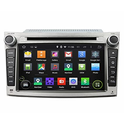 Android 6.0 Octa Core 1024 * 600 coche reproductor de DVD GPS navegación Multimedia estéreo de coche para Subaru ...