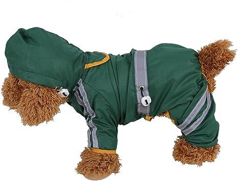 wasserdicht Jacke Katze Hund Kapuze Regenmantel reflektierende Jumpsuit Apparel Pet Regenmantel