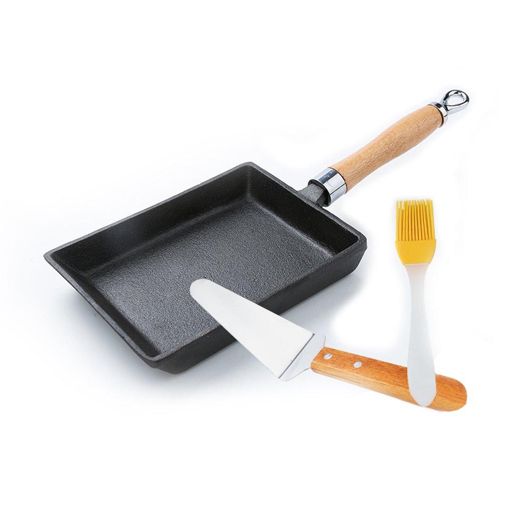 人気定番 nadalan Cast Iron Cast Omelette Egg Square Frying Pan Frying Pan Pot Pancake Pan B07C9CSWBM, Golkin(ゴルフマートキング):2b985b06 --- arianechie.dominiotemporario.com