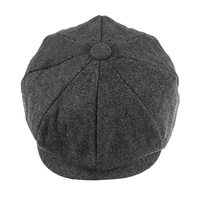 Unisex Women Men Newsboy Cap Winter Warm Wool Blend Flat Tweed Cap Cheviot  Beret Applejack Gatsby c2df2b7ba6