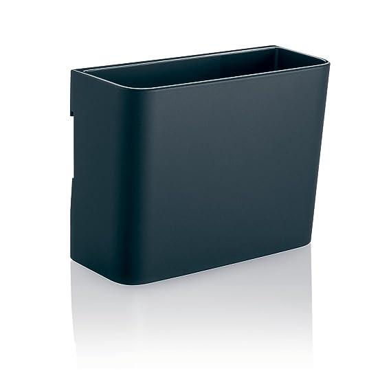 SIGEL GL802 Porta-rotuladores mediano, color antracita, para pizarras de cristal magnéticas