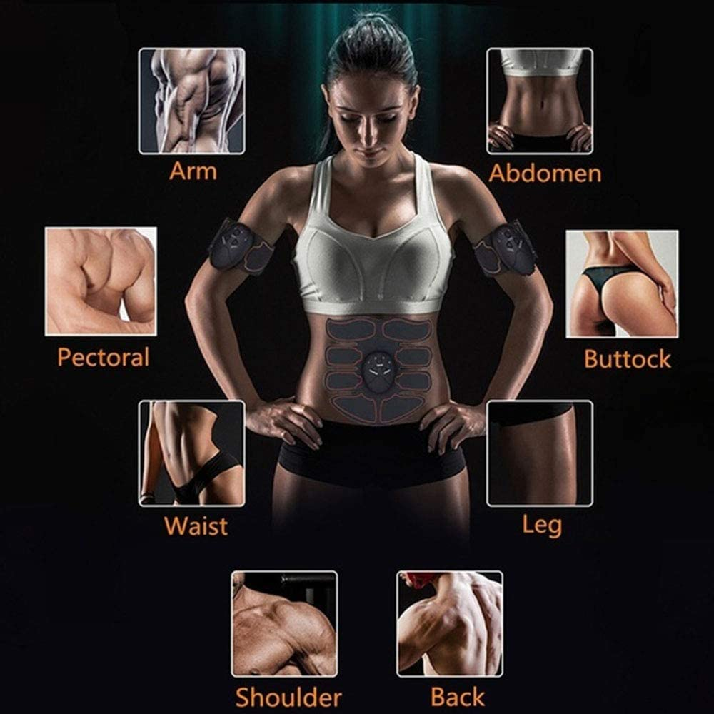 KADDGN Ccsme estimulador Muscular Entrenador Inteligente Aptitud Abdominal Formaci/ón estimulador Cuerpo Que Forma Que Adelgaza la Correa Unisex Pegatinas masajeador