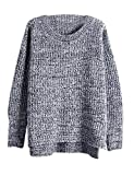 Oversized Sweater for Women Jingjing1 Loose Crew Neck Knitted Pullover Sweaters