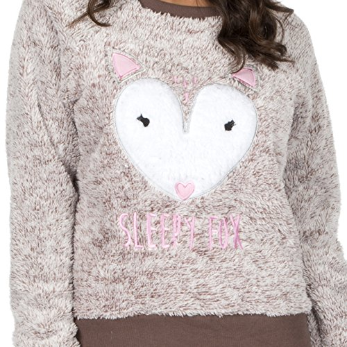 Brown Fox Twosie Fleece Per sempre Soft Set Dreaming Pajama Snuggle BBwCvx
