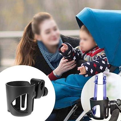 Portavaso Carrito Bebe, Universal Portavasos Bicicleta Antideslizante para Portabebidas, Café, Carrito Bebe,