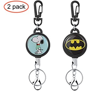Amazon.com: Printed Heavy Duty Retractable Badge Holder with ...