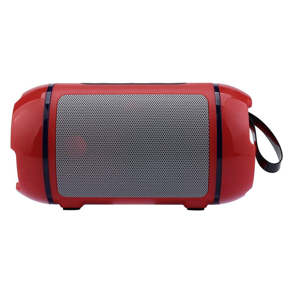 Bluetoothスピーカー ポータブルミニワイヤレススピーカープレーヤー 音楽サウンドコラム すべての携帯電話/タブレット/コンピュータ/ノートパソコンの特徴:Bluetooth/TFカード/Uディスク/FMラジオ One size レッド B07QJGDYL9 レッド
