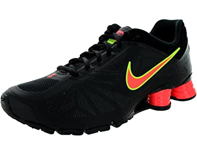 Men's/Women's Nike Shox Turbo 14 Running Shoe Black/Hot Lava/Volt 201420152016