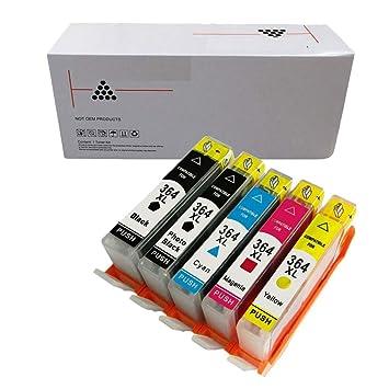 Cartucho de tinta negra foto HP 364XL compatible con chip ...