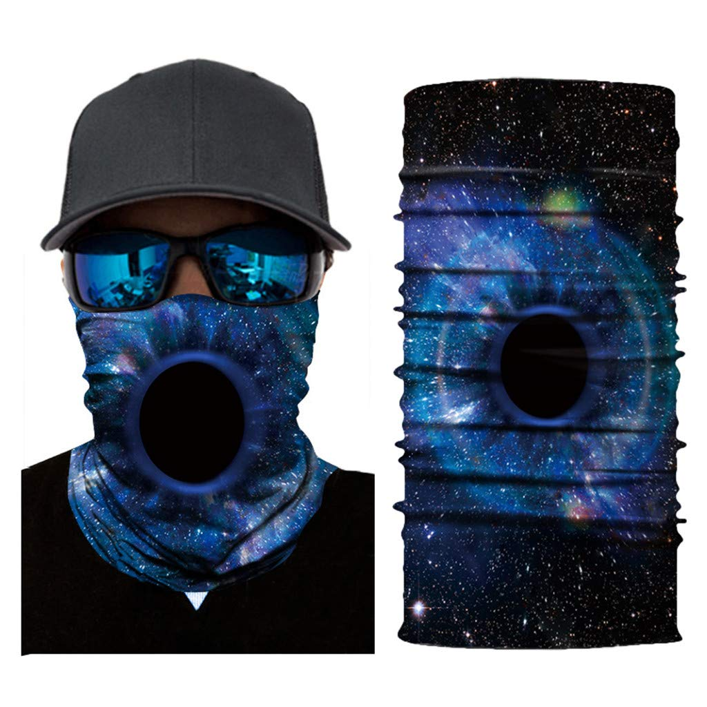 Fishing Running Galaxy Neck Gaiter Headwear Face Sun Mask Bandana Balaclava Headband Magic Scarf Headwrap for Cycling Haluoo Face Shield for Men and Women Motorcycling UV Protection