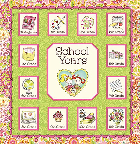 (School Years Pink and Green Memory Keeper with 24 Storage Pockets - PI Kids)