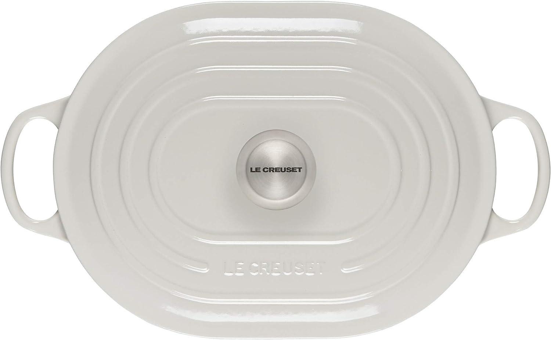 Le Creuset Enameled Cast Iron Signature Oval Casserole, 3.75 qt., White