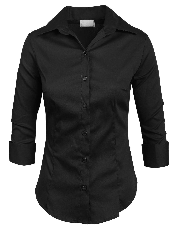 NE PEOPLE ロールアップ七分袖ボタン留め伸縮性シャツ B01NAEK788 5XL-Plus Newt01-black Newt01-black 5XL-Plus
