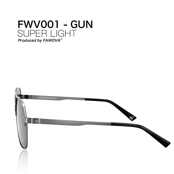 fawova Gafas Sol Hexagonales Hombre Polarizadas, 2019 Chic Gafas Unisex con Espejo Plateado Lente, UV400, Cat.3, 56mm