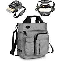 Acoki Mens Shoulder Bag,Multi-functional Crossbody Messenger Bag Business Satchel Sling Travel iPad Documents Briefcase (Grey)