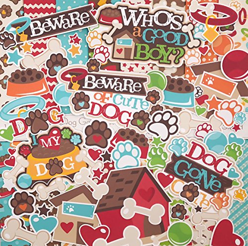 (Dog Gone Cute Set - Matching Die Cuts & Paper Kit by Miss Kate Cuttables - 16 Single - Sided 12