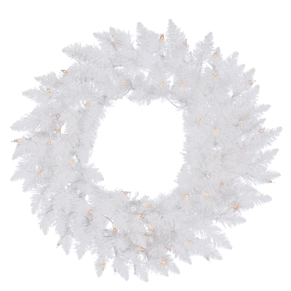 Vickerman A104232LED 30 in. Crystal White Wreath 55LED Multi B00FGBS8PW Multi-colored Led Lights,30