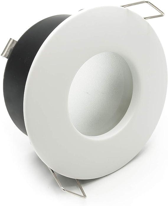 Foco empotrable IP65 Smart WiFi 5 W GU10 LED RGBW RGB 2700 K regulable cromoterapia baño turco cabina ducha voz control Alexa Google Home IFTTT APP smartphone Android iOS Silver Cromato: Amazon.es: