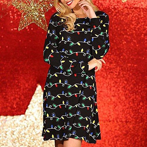 Lantern Printed Beauty Nero Dress Christmas Vin 6q8xSUt