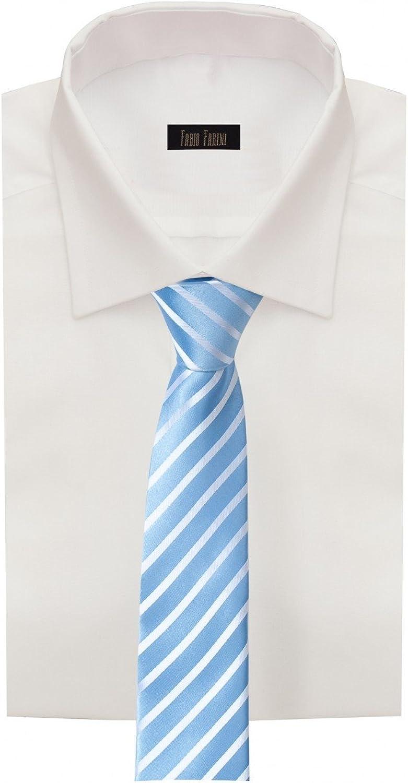 Corbata de Fabio Farini Rayas blancas y azules: Amazon.es: Ropa y ...