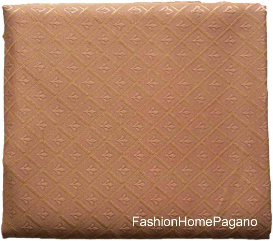270x280 cm Generico Scampolo Tessuto per tappezzeria Damascato Disegno Giglio Mis
