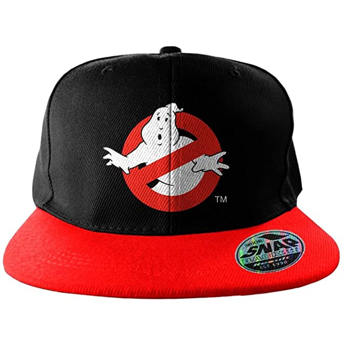 2e551c21363 Amazon.com  Ghostbusters Official No Ghost Logo Embroidered Red and ...