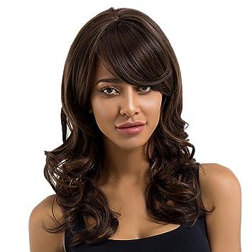 B Baosity Modisch 50cm Natürlich Gewellte Lang Haar Perücke