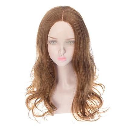 WANG Pelucas Color Negro Fluffy Ondulado Extensiones De Cabello Rizado Wig Sintéticas Resistencia