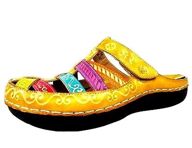 Laura Vita JD2183-54 Billy 54 Schuhe Damen Clogs Pantoletten, Schuhgröße:41;Farbe:Pink
