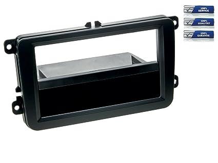 De 2 DIN de radio para Skoda y Seat Modelos * Negro *